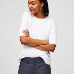 Fuzzy Tie Back Sweater | LOFT