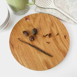 Round Oak And Copper Chopping Board   Notonthehighstreet.com UK