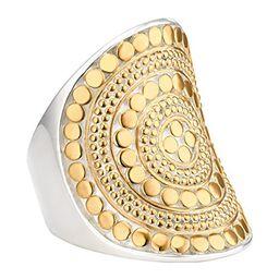 Anna Beck Gold-Plated Beaded Saddle Ring, Size 6.0   Amazon (US)