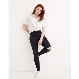 "9"" High-Rise Skinny Jeans in Black Sea | Madewell"