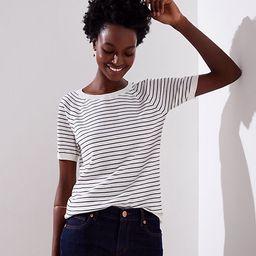 LOFT Striped Sweater Tee | LOFT