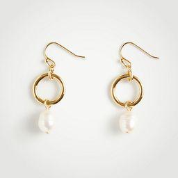 Ring Pearlized Drop Earrings | Ann Taylor (US)