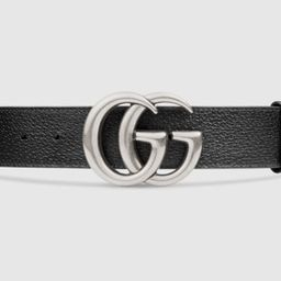 Leather belt with Double G buckle | Gucci (US)