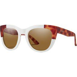 Smith Sidney ChromaPop Polarized Sunglasses - Women's White Honey Tortoise Block, One Size   Backcountry.com