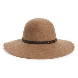 Women's Halogen Refined Wide Brim Wool Floppy Hat - Brown   Nordstrom