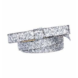 Kate Spade New York Glitter Bow Belt Silver   The RealReal