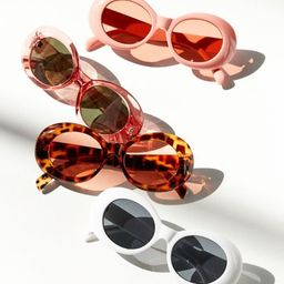 Venice Oval Sunglasses - Pink at Urban Outfitters | Urban Outfitters (US and RoW)