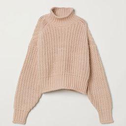 H & M - Ribbed Turtleneck Sweater - Orange | H&M (US)