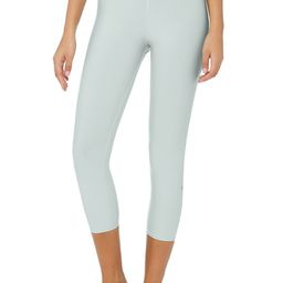 Alo Yoga High-Waist Airlift Capri - Cloud - Size S - Moto bottoms weight seamless-solid | Alo Yoga