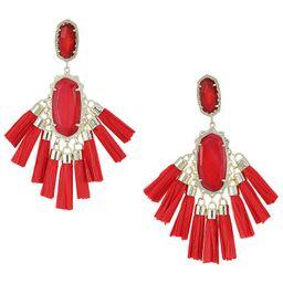 Kendra Scott Kristen Earrings (Gold/Red/Mother-of-Pearl) Earring | Zappos