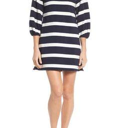 Women's Eliza J Stripe Balloon Sleeve Shift Dress | Nordstrom