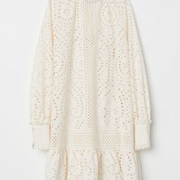 H & M - Broderie anglaise tunic - White   H&M (UK, IE, MY, IN, SG, PH, TW, HK)