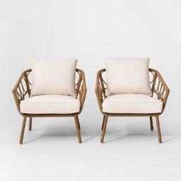 Britanna 2pk Patio Club Chair Natural - Opalhouse | Target