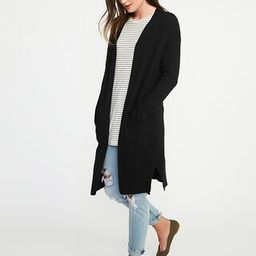 Old Navy Womens Luxe Super-Long Open-Front Cardi For Women Blackjack Size S | Old Navy US