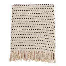 Stitch Line Throw Blanket Ivory - Saro Lifestyle, Size: 50x60 inches, Beige | Target