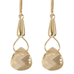 Gold Fill 14k Crystal 'Teardrops of Hecate' Earrings   Overstock