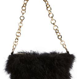 Topshop Flo Marabou Feather Shoulder Bag - | Nordstrom