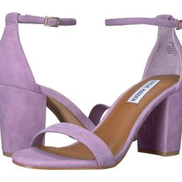 Steve Madden - Exclusive - Declair Block Heeled Sandal (Lavender Suede) High Heels   Zappos
