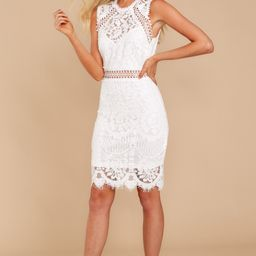 Thinking Of You White Lace Dress   Red Dress