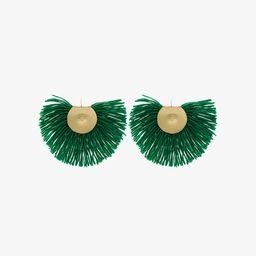 Katerina Makriyianni Green fringed earrings | Browns Fashion