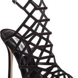 Slithur Black Suede Sandal   Jildor Shoes