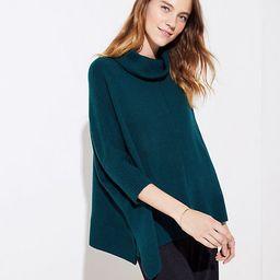 LOFT Turtleneck Poncho Sweater | LOFT