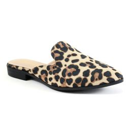 Camel Leopard Bonita Leopard Mule - Women | zulily