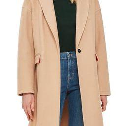 Women's Topshop Lily Knit Back Midi Coat, Size 2 US (fits like 0) - Beige   Nordstrom