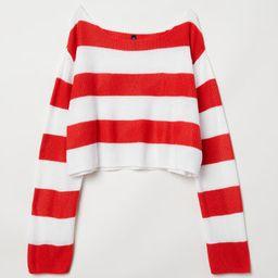 H & M - Striped Sweater - Red   H&M (US)
