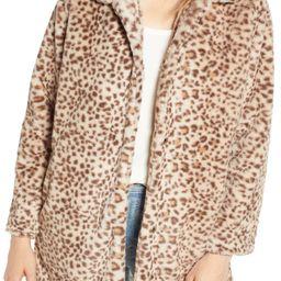 Women's Wit & Wisdom Faux Leopard Fur Coat | Nordstrom