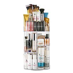 Jerrybox Acrylic Makeup Organizer 360-Degree Rotating Cosmetic Organizer Adjustable Cosmetic Storage   Amazon (US)