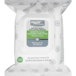 Equate Beauty Sensitive Facial Cleansing Towelettes, 30 Ct   Walmart (US)