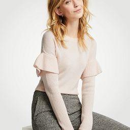 Flounce Sleeve Sweater   Ann Taylor (US)