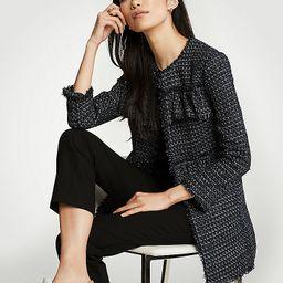Ruffle Tweed Long Jacket | Ann Taylor (US)