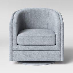 Berwick Barrel Swivel Chair Gray - Threshold | Target