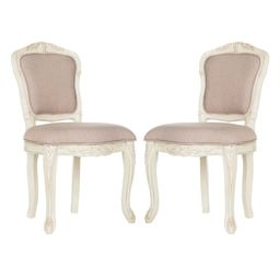 Dining Chairs Taupe (Brown) Vintage White - Safavieh | Target