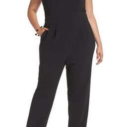 Women's 1901 Bow Back Jumpsuit, Size 16 (Similar to 12W) - Black | Nordstrom