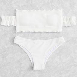 Off The Shoulder Bikini Set | SHEIN