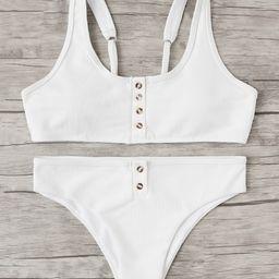 Button Front Bikini Set | SHEIN