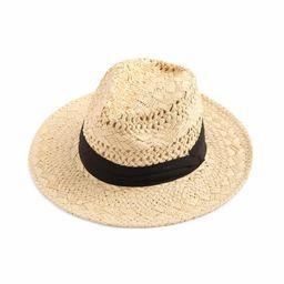 Contrast Band Braided Beach Hat | SHEIN