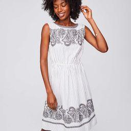 Embroidered Stripe Midi Dress | LOFT