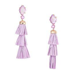 Kendra Scott Denise Earrings (Rose Gold/Lilac/Mother-of-Pearl) Earring | Zappos