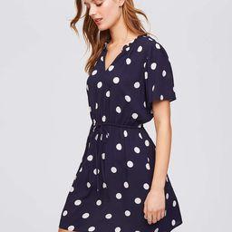 Polka Dot Tie Waist Dress   LOFT