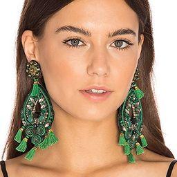 Ranjana Khan Chandelier Earring in Green | Revolve Clothing (Global)