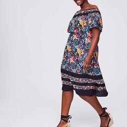 LOFT Plus Flowerbed Off The Shoulder Dress | LOFT