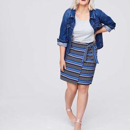 LOFT Plus Striped Wrap Skirt | LOFT