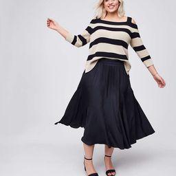 LOFT Plus Midi Flare Skirt | LOFT