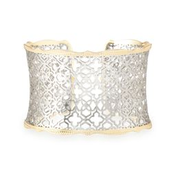 Candice Gold Cuff Bracelet in Silver Filigree | Kendra Scott