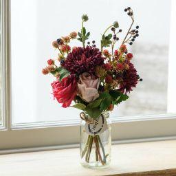 Faux Blackberry And Dahlia Flower Jar | Notonthehighstreet.com UK