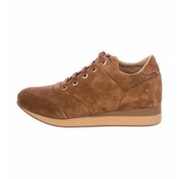 MaxMara Suede Wedge Sneakers Brown   The RealReal